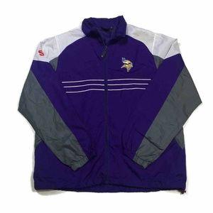 Reebok Minnesota Vikings Unisex Jacket Purple Zip